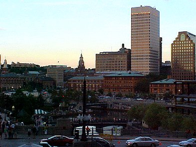 Downtown Providence at dusk