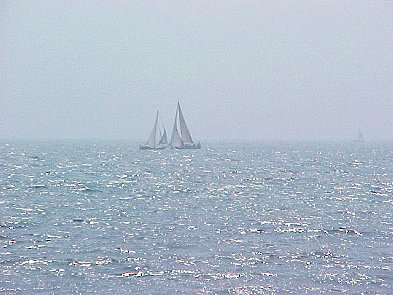 Sailing in the haze