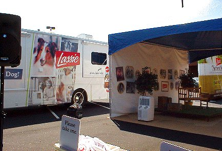 Lassie van and appearance tent
