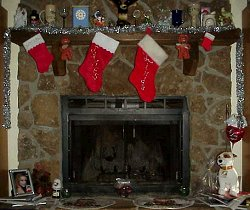 The fireplace at Christmas