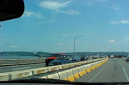 Heading east on the Tappan Zee Bridge