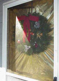 A wreath on the door